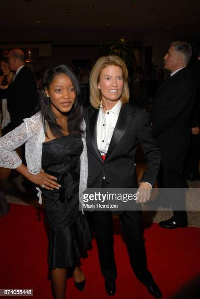 American actress and musician Keke Palmer poses with journalist Greta Van Susteren during the annual White House Correspondents' Dinner at the...