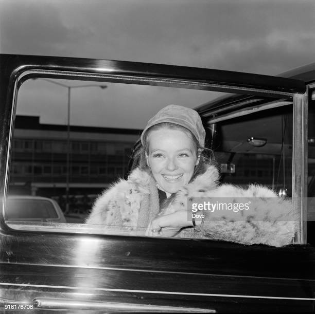 American actress and playwright Katharine Houghton at Heathrow Airport London UK 26th February 1968
