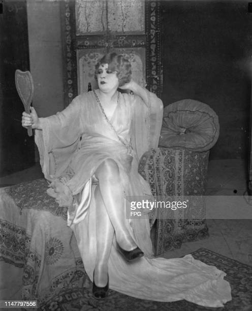 American actress and playwright Mae West in the title role of her play, 'Diamond Lil', which ran for 176 performances at the Royale Theatre on...