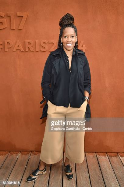American Actress and Producer Regina king attends the 2017 French Tennis Open Day Ten at Roland Garros on June 6 2017 in Paris France