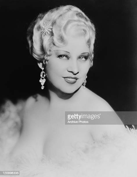 American actress and screenwriter Mae West , 1934.