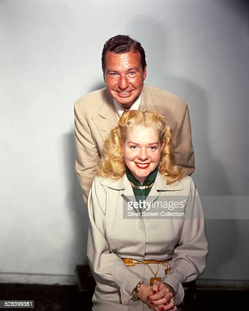 American actress and singer Alice Faye with her husband American singer actor and comedian Phil Harris circa 1955