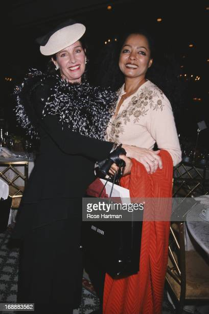 American actress and singer Andrea Marcovicci with singer Diana Ross during the 15th Annual Power Lunch for Women at the Pierre Hotel in New York...