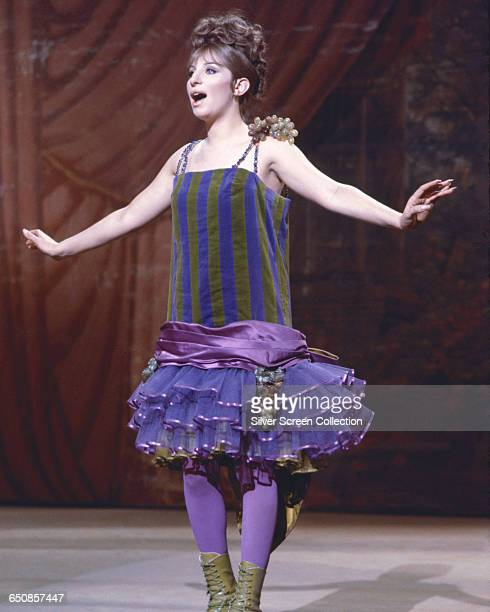 American actress and singer Barbra Streisand as performer Fanny Brice in the musical film 'Funny Girl' 1968