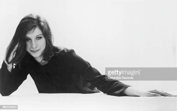 American actress and singer Barbra Streisand at the time of the release of her debut LP 'The Barbra Streisand Album' by Columbia Records 1963