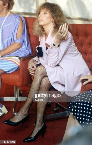 American actress and singer Barbra Streisand, circa 1990.