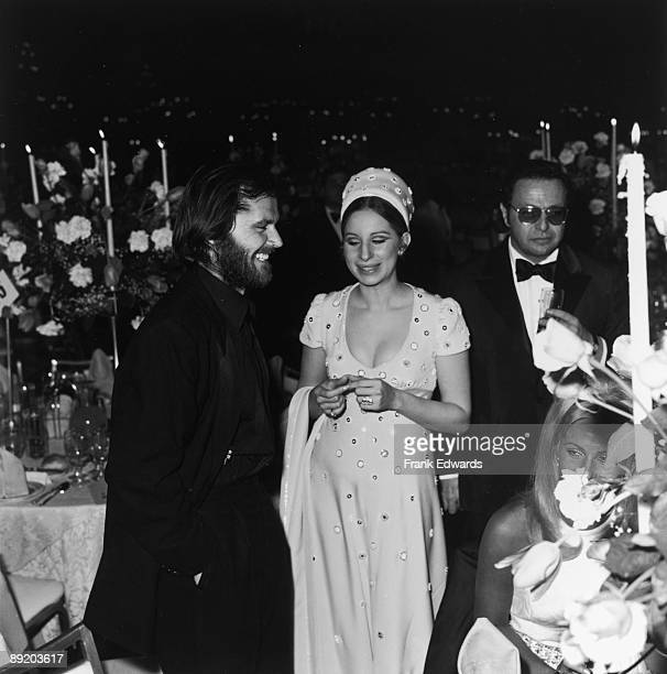 American actress and singer Barbra Streisand with actor Jack Nicholson during an Academy Awards party at the Dorothy Chandler Pavilion, Los Angeles,...