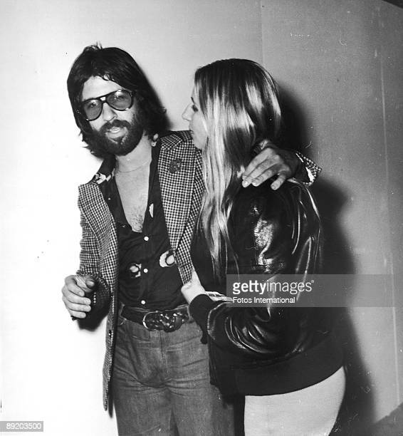 American actress and singer Barbra Streisand with her boyfriend producer Jon Peters October 1974 They are leaving a Bistro party for Elton John