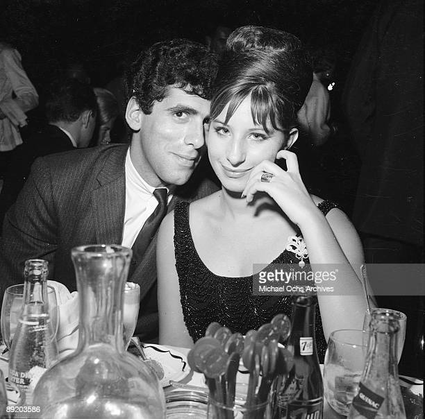 American actress and singer Barbra Streisand with her husband actor Elliott Gould attend an event in Los Angeles circa 1967