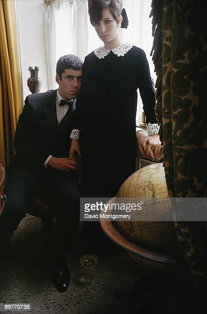 American actress and singer Barbra Streisand with her husband, actor Elliott Gould, May 1966.