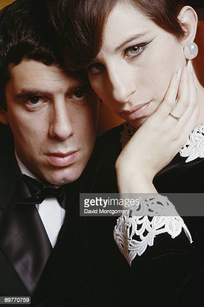 American actress and singer Barbra Streisand with her husband actor Elliott Gould May 1966