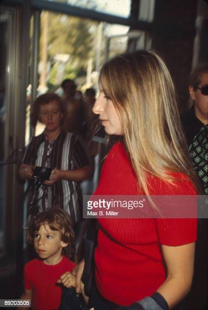 American actress and singer Barbra Streisand with her son Jason Gould 1971 Jason's father is the actor Elliott Gould