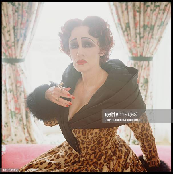 American actress and singer Betty Buckley as fading star Norma Desmond in a stage production of 'Sunset Boulevard' 1994