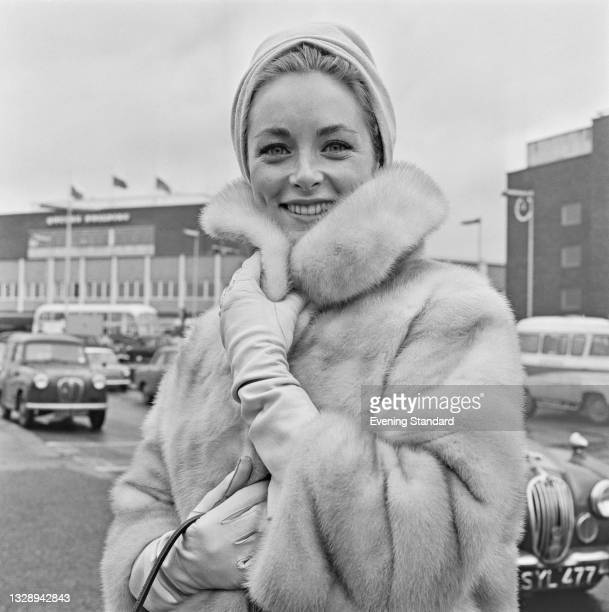 American actress and singer Charmian Carr at London Airport , UK, 23rd December 1965.
