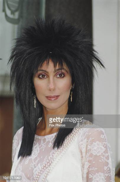American actress and singer Cher in London to promote her latest film 'Mask' 26th June 1985 She stars as Florence 'Rusty' Dennis in the film