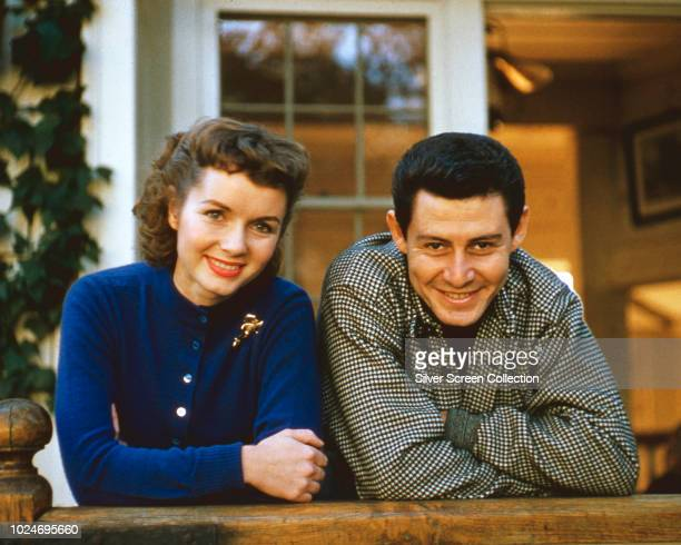 American actress and singer Debbie Reynolds with her husband actor and singer Eddie Fisher circa 1957