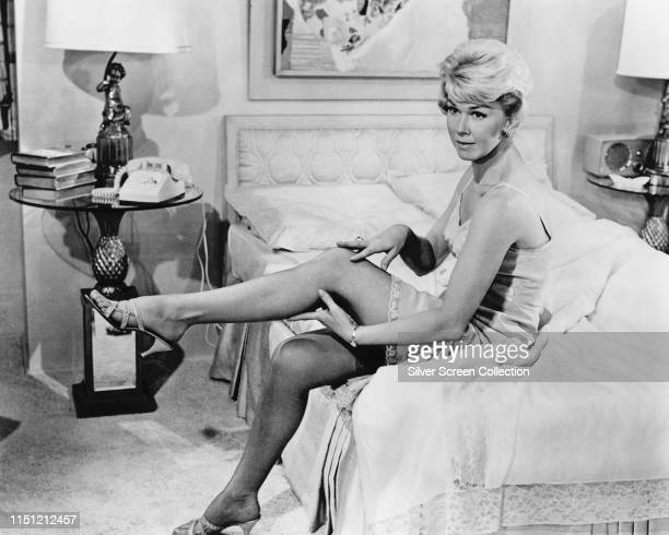 American actress and singer Doris Day as Jan Morrow in the romantic comedy 'Pillow Talk', 1959.