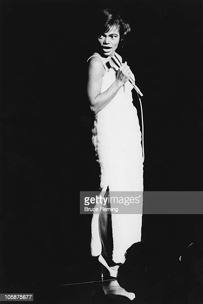 American actress and singer Eartha Kitt performs at the 'Talk of the Town' cabaret restaurant in London 1962