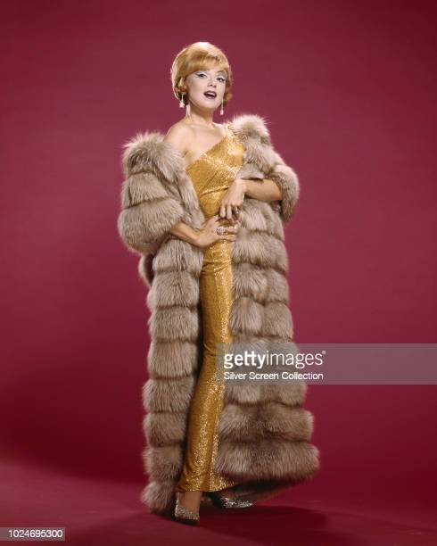 American actress and singer Edie Adams in a fur coat circa 1960