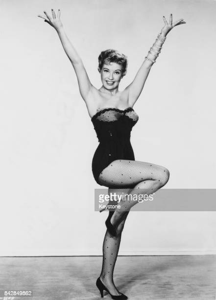 American actress and singer Gloria DeHaven as a nightclub singer in the musical comedy 'So This Is Paris' 1955 In the film she sings the song 'I...