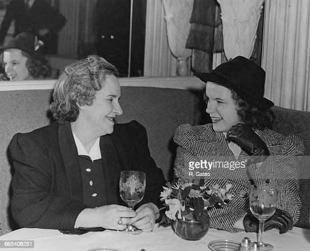 American actress and singer Judy Garland with her mother Ethel Marion Gumm née Milne circa 1938