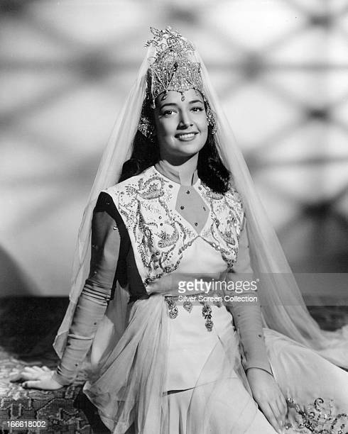 American actress and singer Kathryn Crosby as she appears in the role of Princess Parisa in 'The 7th Voyage of Sinbad' directed by Nathan H Juran...
