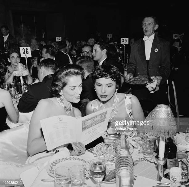 American actress and singer Lena Horne at the 8th Primetime Emmy Awards dinner in Hollywood, California, 17th March 1956.