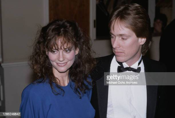 American actress and singer Lesley Ann Warren and her husband, American choreographer Jeffrey Hornaday, attend the 40th Annual Golden Globe Awards,...