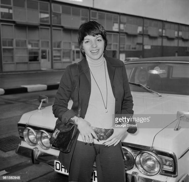 American actress and singer Liza Minnelli arrives at Heathrow airport in London on 22nd May 1972.