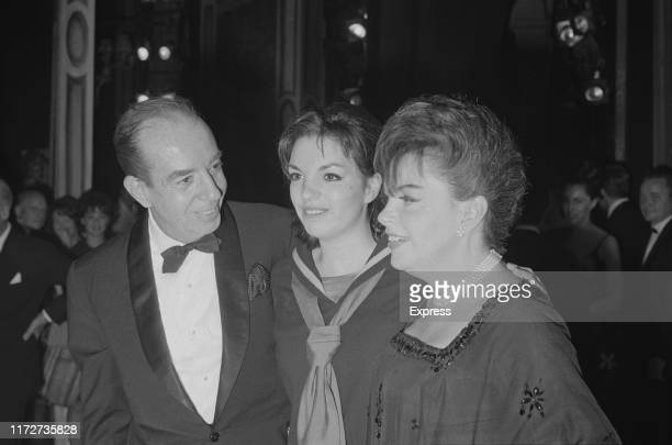American actress and singer Liza Minnelli with her father ItalianAmerican movie director Vincente Minnelli and her mother American actress and singer...