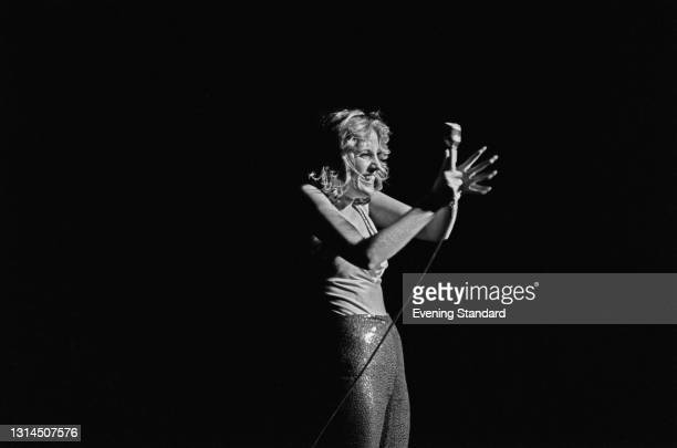 American actress and singer Lorna Luft appears at the Talk of the Town nightclub in London, UK, 15th January 1974. The venue hosted some of her...