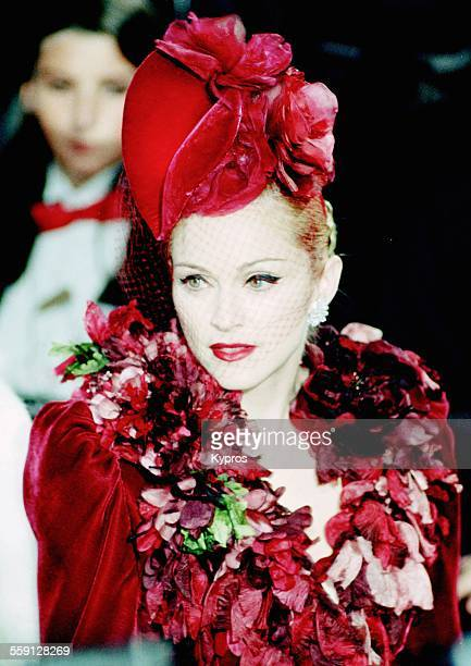 American actress and singer Madonna attends the premiere of her latest film 'Evita' in Los Angeles California 14th December 1996