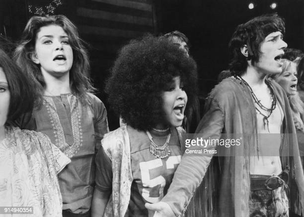 American actress and singer Marsha Hunt during rehearsals for the musical 'Hair' at the Shaftesbury Theatre in London 24th September 1968