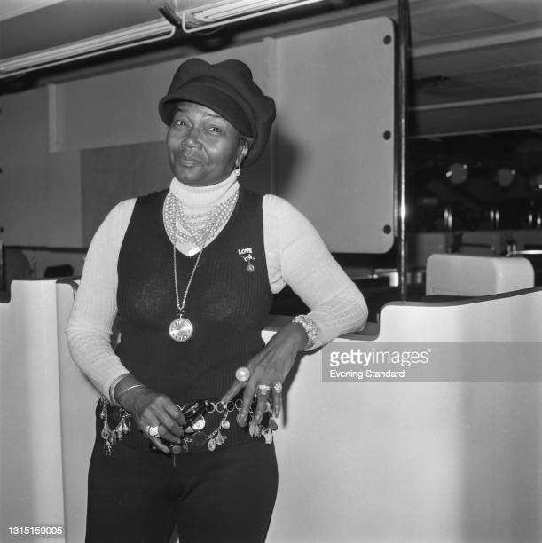 American actress and singer Pearl Bailey , UK, 3rd July 1973.