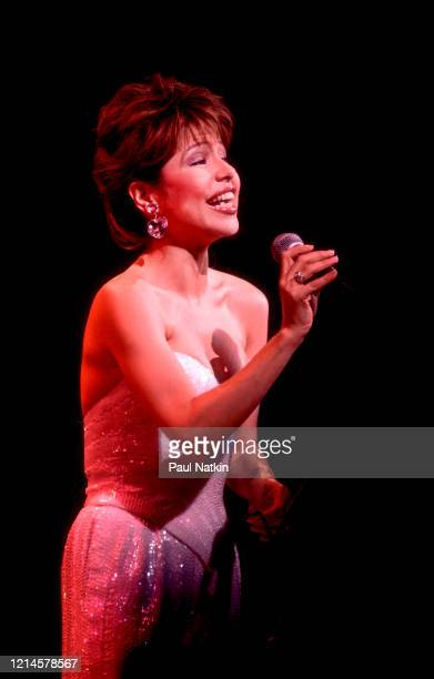 American actress and singer Pia Zadora performs onstage at the Holiday Star Theater Merrillville Indiana October 2 1986