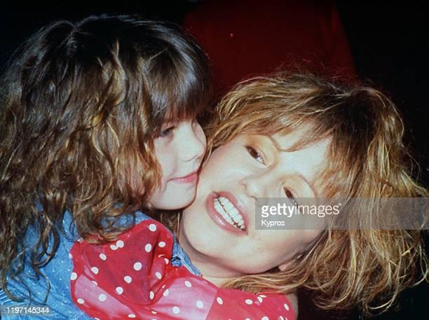 American actress and singer Pia Zadora with her daughter Kady circa 1990