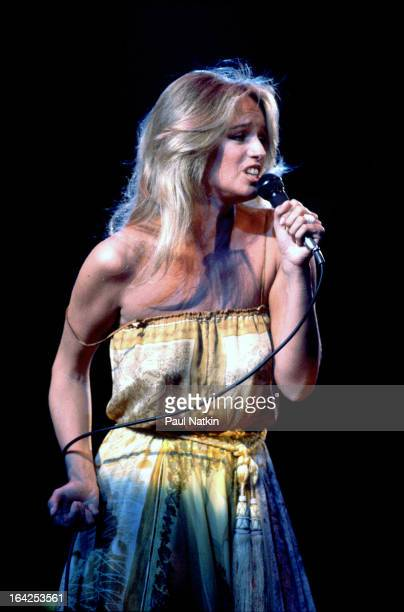 American actress and singer Susan Anton performs on stage Chicago Illinois July 10 1981