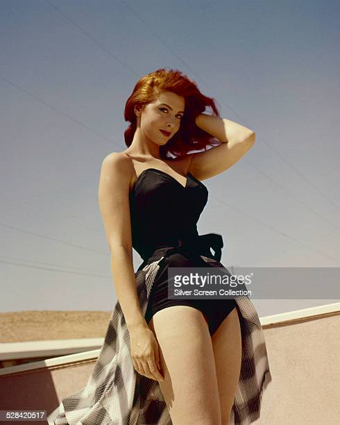 American actress and singer Tina Louise in a onepiece swimsuit circa 1960