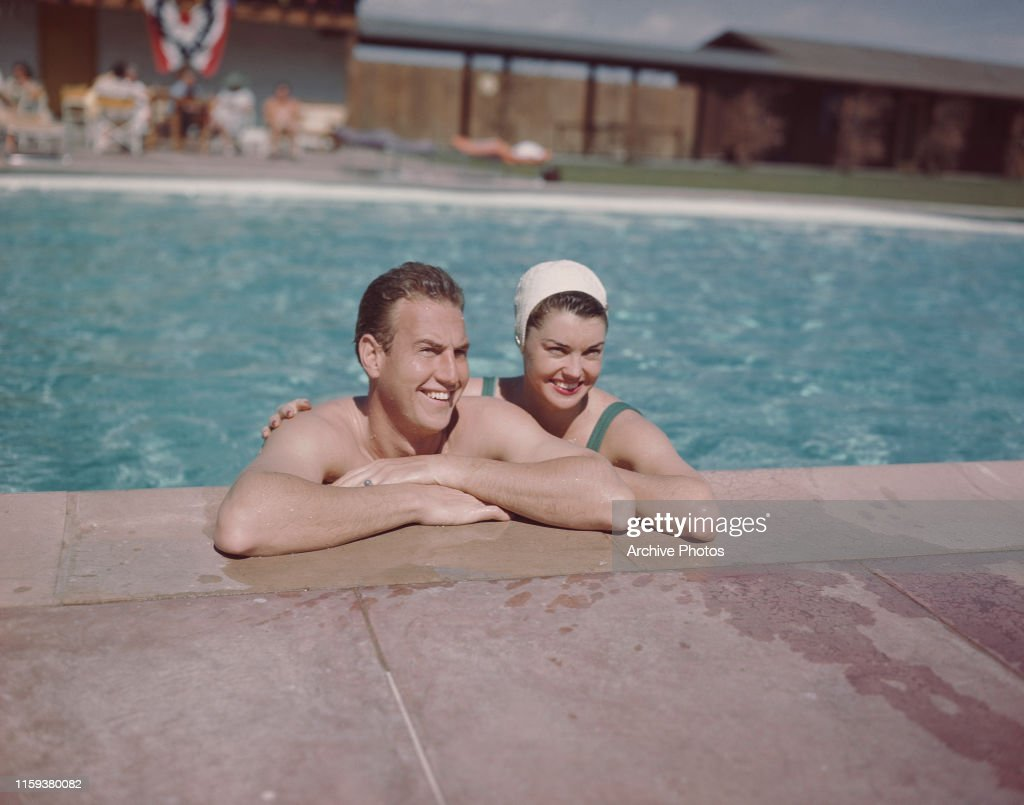 American actress and swimmer Esther Williams in a swimming ...