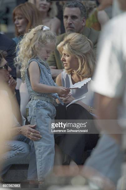 American actress and TV presenter Marla Maples with her daughter Tiffany Trump on the set of Bryan Spicer's comedy film 'For Richer Or Poorer' New...