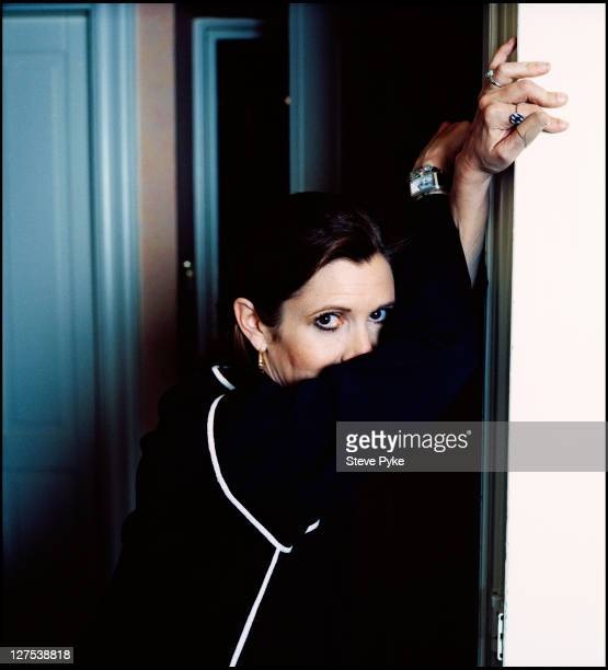 American actress and writer Carrie Fisher in London 18th April 1993
