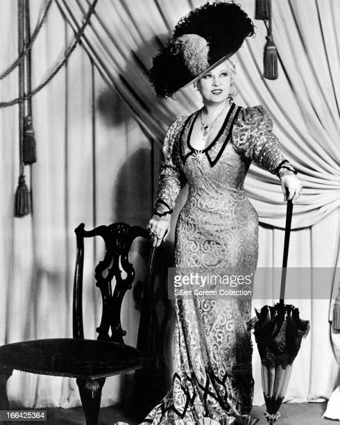 American actress and writer Mae West circa 1935