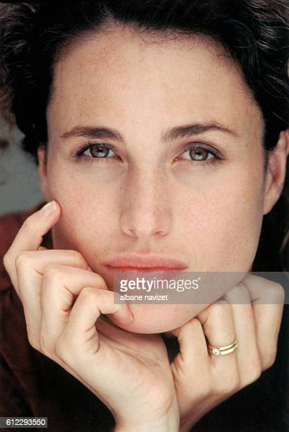 American actress Andie MacDowell at home