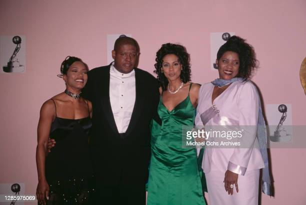 American actress Angela Bassett, American actor Forest Whitaker, American actress Lela Rochon, and American actress and singer Loretta Devine attend...