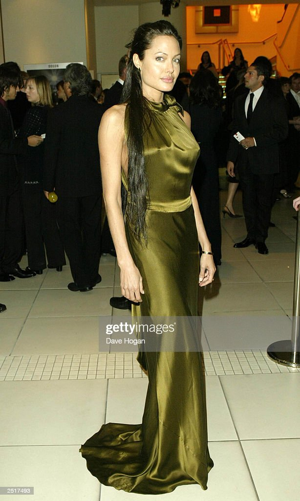 American actress Angelina Jolie arrives at the 2003 Orange British Academy Film Awards 'The BAFTAS' Held At The Odeon, Leicester Square on February 23, 2003 in London.
