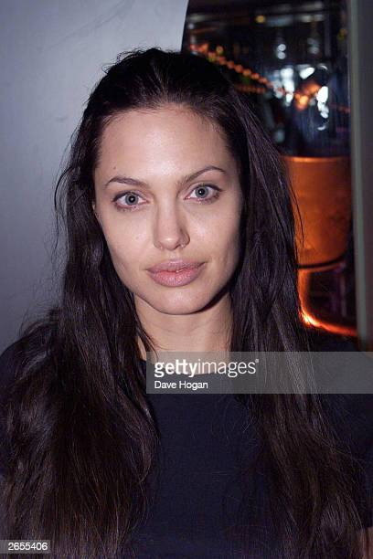 American actress Angelina Jolie attends the film premiere of 'Gone in 60 Seconds' on July 26 2000 in London