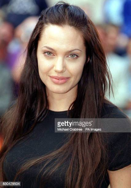 American actress Angelina Jolie one of the stars of the film arriving for the European Premiere of Gone In 60 Seconds at the Odeon West End Cinema in...