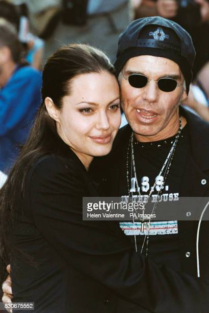American actress Angelina Jolie with her husband actor Billy Bob Thornton outside the Empire Cinema in London's Leicester Square where Jolie's latest...