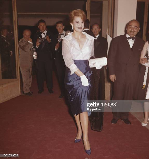 American actress Angie Dickinson attends the 1961 Cannes Film Festival at Cannes in France in May 1961