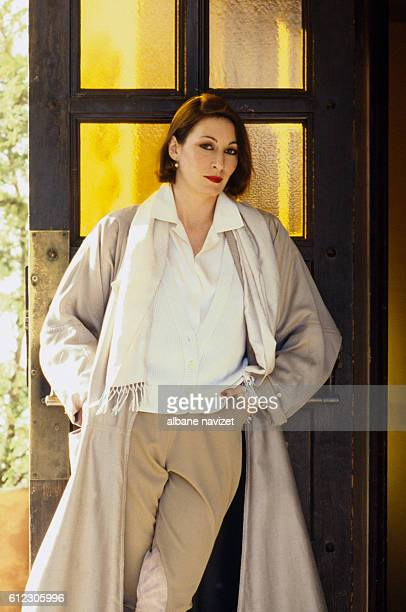 American actress Anjelica Huston in Los Angeles